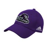 Adidas Purple Structured Adjustable Hat-Primary Mark