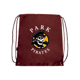 Maroon Drawstring Backpack-Official Logo