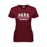 Ladies Maroon T Shirt-Grandma