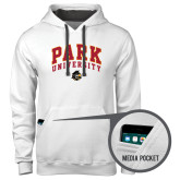 Contemporary Sofspun White Hoodie-Park University Arched