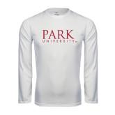 Syntrel Performance White Longsleeve Shirt-University Mark