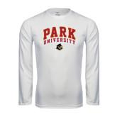 Syntrel Performance White Longsleeve Shirt-Park University Arched