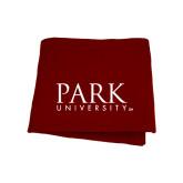 Maroon Sweatshirt Blanket-University Mark