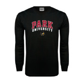 Black Long Sleeve TShirt-Park University Arched