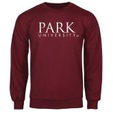 Maroon Fleece Crew-University Mark