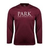 Performance Maroon Longsleeve Shirt-University Mark
