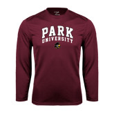 Performance Maroon Longsleeve Shirt-Park University Arched