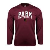 Performance Maroon Longsleeve Shirt-Park University Arched