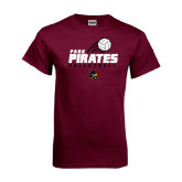 Maroon T Shirt-Volleyball Swoosh