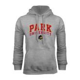 Grey Fleece Hoodie-Park University Arched