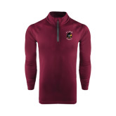 Under Armour Maroon Tech 1/4 Zip Performance Shirt-Official Logo