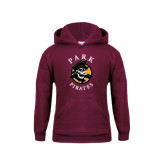 Youth Maroon Fleece Hood-Official Logo