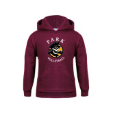Youth Maroon Fleece Hood-Volleyball