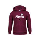Youth Maroon Fleece Hood-Volleyball Swoosh