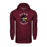 Under Armour Maroon Performance Sweats Team Hood-Official Logo