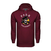 Under Armour Maroon Performance Sweats Team Hood-Volleyball
