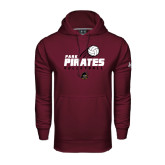 Under Armour Maroon Performance Sweats Team Hood-Volleyball Swoosh