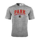 Performance Grey Heather Contender Tee-Park University Arched