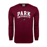 Maroon Long Sleeve T Shirt-Park University Arched