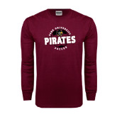 Maroon Long Sleeve T Shirt-Soccer Circle