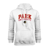 White Fleece Hoodie-Park University Arched