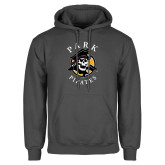 Charcoal Fleece Hoodie-Official Logo
