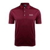 Maroon Dry Mesh Polo-University Mark