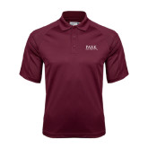 Maroon Dri Mesh Pro Polo-University Mark