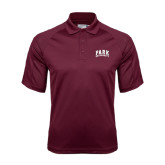 Maroon Dri Mesh Pro Polo-Park University Arched Collegiate