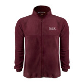 Fleece Full Zip Maroon Jacket-University Mark