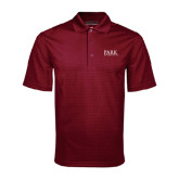 Maroon Mini Stripe Polo-University Mark