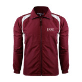 Colorblock Maroon/White Wind Jacket-University Mark