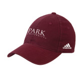 Adidas Maroon Slouch Unstructured Low Profile Hat-University Mark