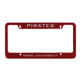Metal Maroon License Plate Frame-Pirates