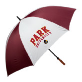 62 Inch Maroon/White Umbrella-Park University Arched