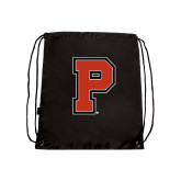 Nylon Black Drawstring Backpack-P