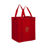 Non Woven Red Grocery Tote-P