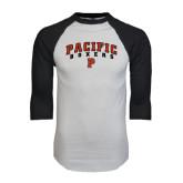 White/Black Raglan Baseball T-Shirt-Arched Pacific Boxers w/P