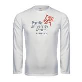Syntrel Performance White Longsleeve Shirt-Pacific University Oregon w/Boxer