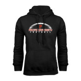 Black Fleece Hoodie-Flat Football Design