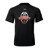 Under Armour Black Tech Tee-Tall Football Design