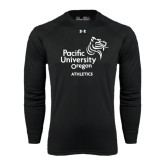 Under Armour Black Long Sleeve Tech Tee-Pacific University Oregon w/Boxer