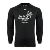 Under Armour Black Long Sleeve Tech Tee-Pacific University Oregon w/Boxer