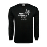 Black Long Sleeve TShirt-Pacific University Oregon w/Boxer