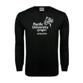 Black Long Sleeve TShirt-Pacific University Oregon w/Boxer