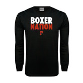 Black Long Sleeve TShirt-Boxer Nation