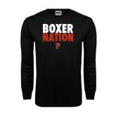 Black Long Sleeve TShirt-Boxer Nation