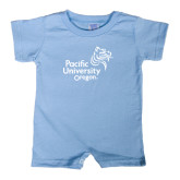 Light Blue Infant Romper-Pacific University Oregon w/Boxer