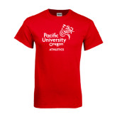 Red T Shirt-Pacific University Oregon w/Boxer