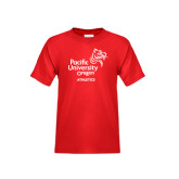 Youth Red T Shirt-Pacific University Oregon w/Boxer